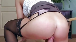 Bill Bailey fucks her boss in the anal