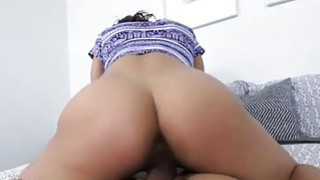 Horny hot Teanna Trump sucking a huge cock