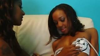 Hot ebony sluts in nice lesbian action