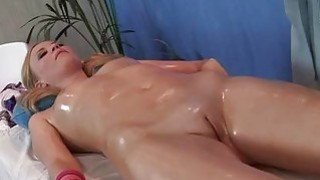 Hot blondie has awesome massage