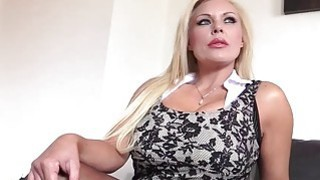 Busty blonde MILF Monty  bounces her big ass on a hard dick
