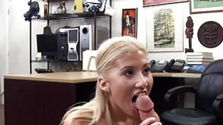 Busty blonde woman drilled by pawn dude