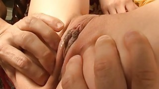 Charming oriental chick gives wild titty fuck