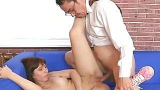 Older teacher fucks naughty sweetheart senseless