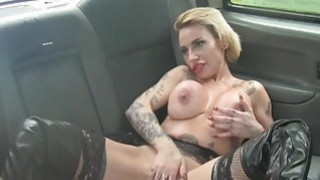 Busty tattooed passenger pussy rammed