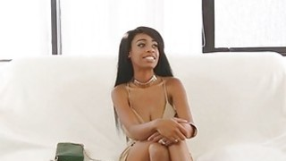 Ebony with real big tits fucked hard