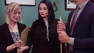 Slim secretary anal trained by masters wife