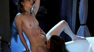 Kirsten Scott licked by stepmom in tub
