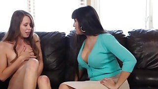 Hot busty MILF with young Zoey Laine in a steamy lesbian adventure