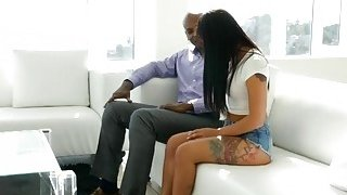 Monster black cock makes young vixen Gina Valentina cum like crazy