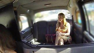 Huge tits lesbian licks cab drivers cunt