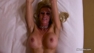 Lusty MILF takes it in the ass from behind POV