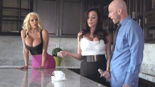 Ariella Ferrera and Nicolette Shea want to fuck Johnny Sins