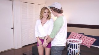 Krissy Lynn getting her pussy fingered by stepson
