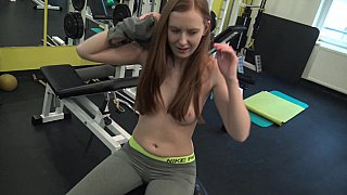 Cheating girlfriend fucked at the gym